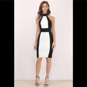Tobi color block halter dress